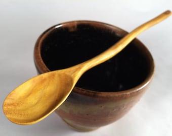 ECO Osage Orange tasting spoon curvy handle