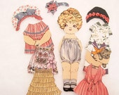 Fabric Paper Doll  Child's  Travel toy Church toy  Betsy