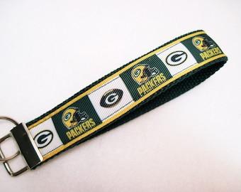 Green Bay Packer Wristlet key fob key holder keychain