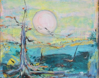 Abstract Landscape Art by Francine Ethier. 24 x 24 inches