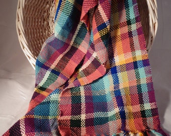 Plaid scarf - multicoloroed