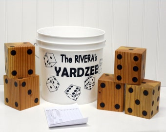 Yardzee- Bride and Groom Gift- Family Fun- Wedding Gift-4th Of July-Outdoor fun-Birthday Gift-Yardzee Game- Family Gift- Family Reunion-