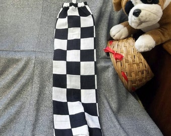 Plastic Bag Holder Sock, Winning Checkered Flag Print