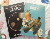 Two Golden Press Guides vintage Books Birds and Stars