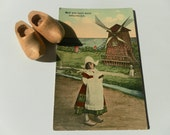 Trio of Dutch Postcards with a little pair of clogs