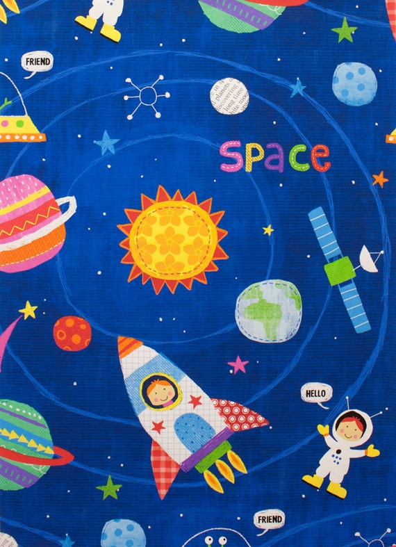 My space friend fabric by alexander henry de 8351a for Space fabric by the yard
