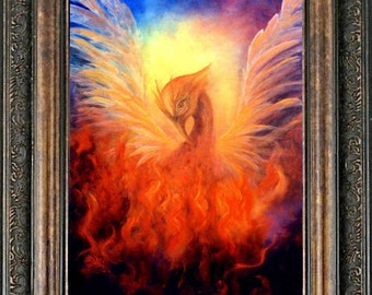 phoenix rising print poster phoenix print phoenix bird art abstract wall art home decor - Home Decor Phoenix