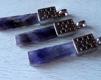 35% OFF Silver Plated Amethyst Pendant