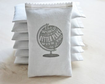 Unique Teacher Gift, The World is a Better Place With You in it Lavender Sachet, Best Friend Long Distance