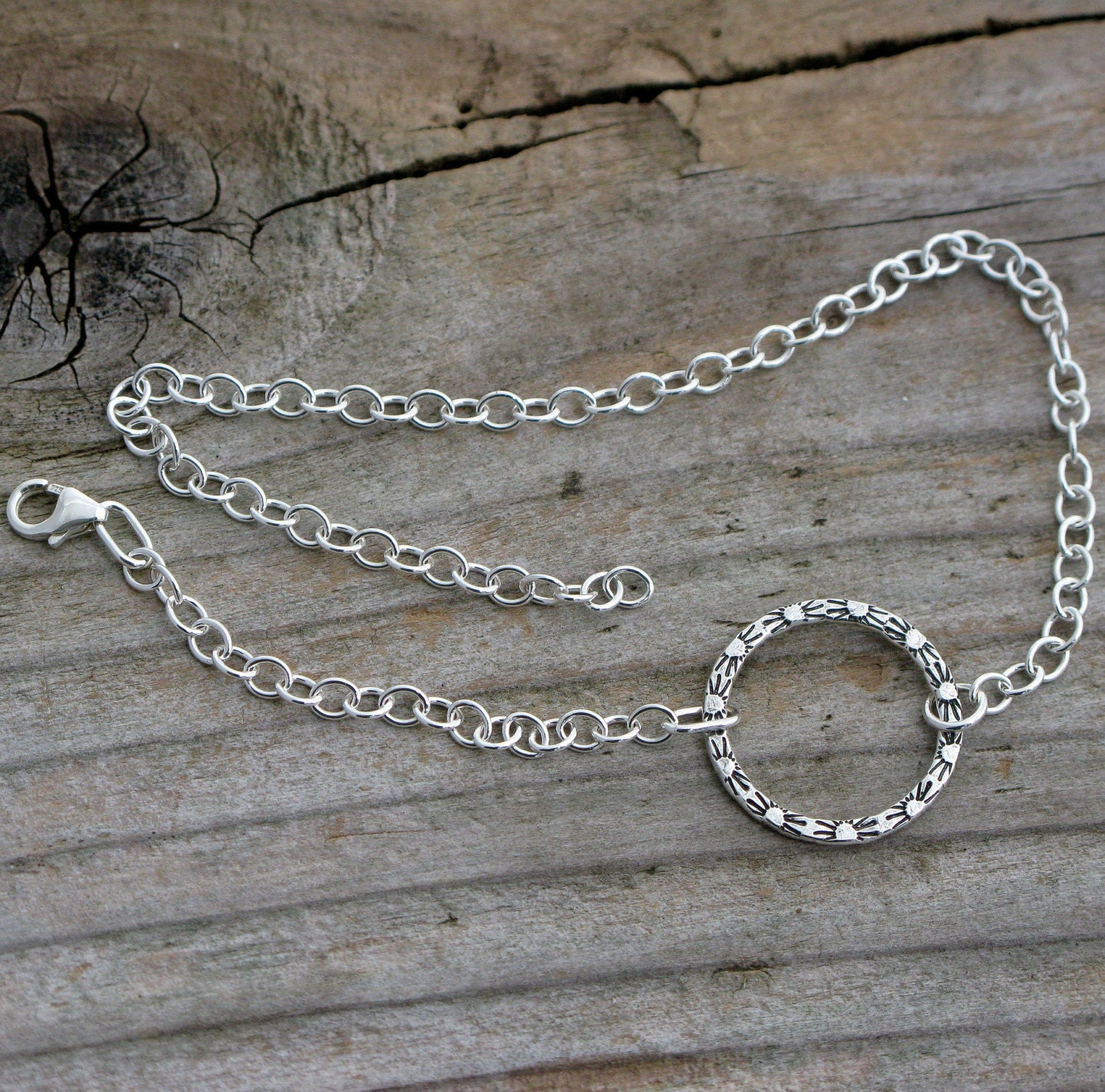 in silver anklet sterling dragonfly inch