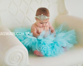 Aqua Blue Junior Bridesmaid Tutu Skirt