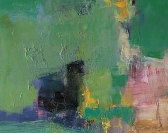 Small Box Painting 1144 - Original Oil Painting - 22.7 cm x 22.7 cm (app. 8.9 inch x 8.9 inch)
