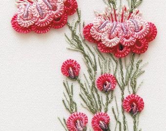 Camelias Brazilian embroidery kit #1702 - EdMar threads/choose color