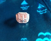 Vintage Toy Ring-1960s TV's Romper Room Do-Bee Adjustable Aluminum-NEW!