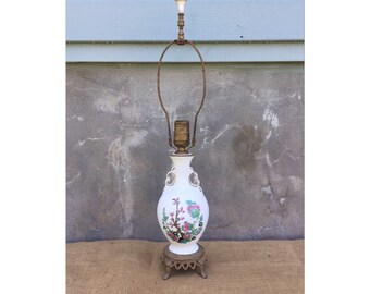 Desk Lamp - Vintage Lamp - Table Lamp - Chinoiserie Lamp - Vintage Chinoiserie Lamp - Chinoiserie CHIC