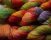 Lark, Hand-dyed Fine Rayon Boucle Yarn, 300 yds - Tex Mex