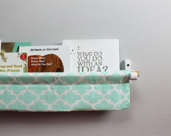Book Sling - Mint and White Trellis - Choose your size