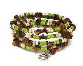 AUTUMN coil Beaded Bracelet by Beading Divas Fundraiser