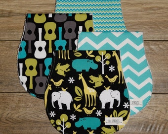 Burp Cloths Boy-Baby Burp Cloths-Burp Rags-Burp Clothes-Baby Shower Gift-Burp Cloth Set-Chevron Burp Cloth-Best Burp Cloth-Burp Cloths Etsy