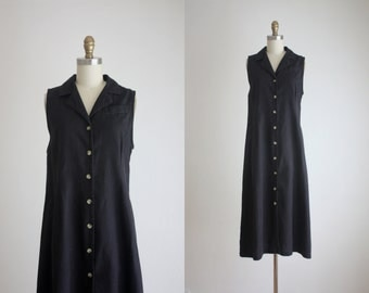 black linen field dress