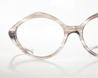 POP SALE Vintage 1960s Deadstock Glasses Eyeglasses Mod Mid Century Womens Ladies Diamond Oversized Retro Geek Chic Brown Heather Grey Purpl