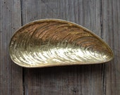 Brass Mussel Shell Unique