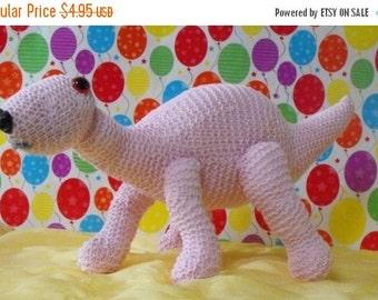 HALF PRICE SALE Instant Digital File pdf download knitting pattern - Baby Dinosaur Nursery toy animal pdf download knitting pattern