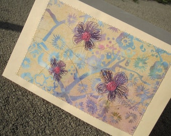 Quilted Flower 2 Greeting Card