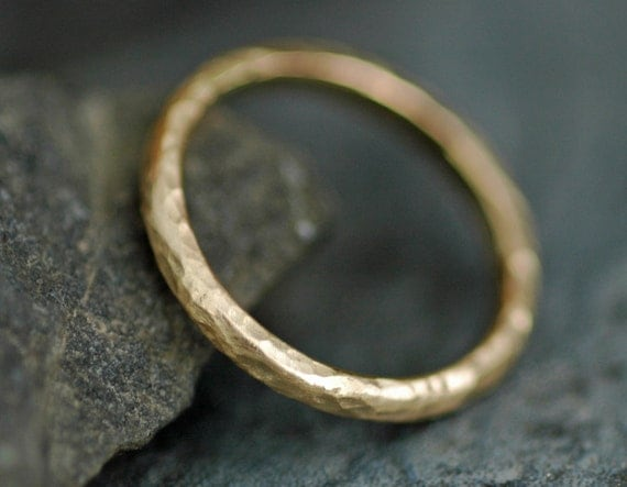 Gold Stacking Ring- Recycled 14k or 18k  Yellow, Rose, or White Gold- Custom Made to Order
