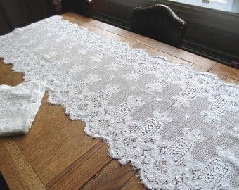 Vintage Shabby Chic Crochet Curtain Panels~