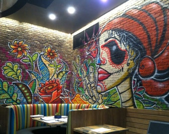 Custom Graffiti Art Murals by Mizu -  Denver - Boulder - Fort Collins - Loveland - Colorado