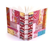 Gift for a Quilter, Handmade Journal, Collage Journal, Gift for a Paper Addict