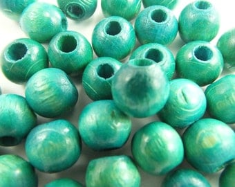 6 pcs 10 mm,Hole Size:5 mm Round Wood Beads ,  Findings...Pattern Wood Beads...Jewelry Making Beads,Wooden Beads-bk 221
