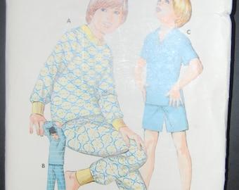 Quick sew Sewing Pattern 523 Boys Pajamas