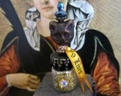 9 Lives Potion Bottle dollhouse miniature in 1/12 scale