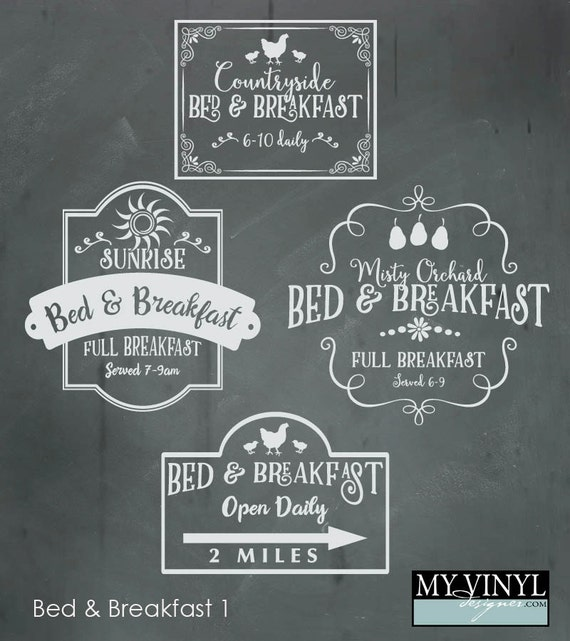 Bed And Breakfast Svg Files Kitchen Wall Art Cuttable Svg