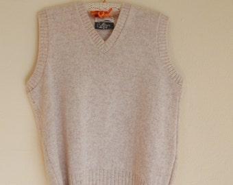mens wool vest, vintage vest, sweater vest