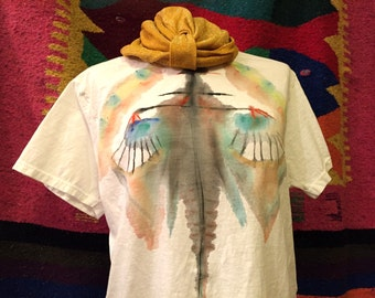 The Hestia PSYCHEDELIC BOOB shirt hand painted size Medium