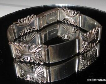 Hans Jensen Denmark 830S Silver Panel Bracelet