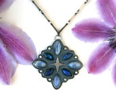 Quasar  - Moonstone and Labradorite Sterling Silver Necklace
