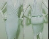 White Racerback Cocktail Dress/ Black Racerback Cocktail Dress/ DateNight Dress