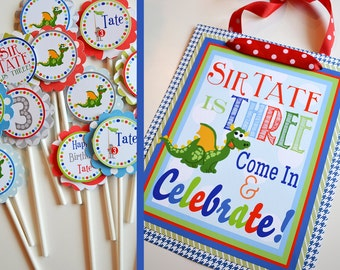Knights and Dragons Birthday Party - Fully Assembled Decorations