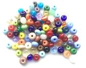 From the beadbox - 100  Spacer Beads  - Handmade Lampwork (6)