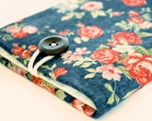 iPhone Pouch, Floral Pouch for Cell Phone, Custom Size, iPhone 6, iPhone 6+, iPhone 6S, Women Phone Sleeve, Padded - Vintage Flowers