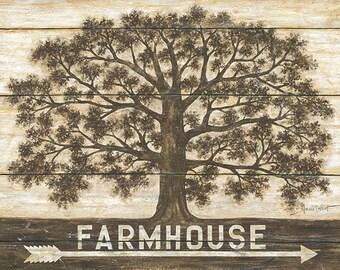 Farmhouse Arrow,Farmhouse Oak Tree,Farmhouse Wall Decor,Arrow,Wooden Art Plaque,24x18,Annie LaPoint