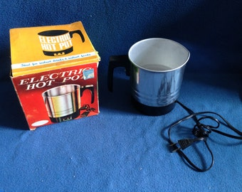 Vintage, Stainless Steel, Electric Hot Pot w Box, Coffee Heater/Carafe