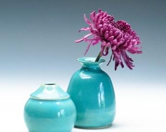 Aqua Green Vase / Ceramic Vessel