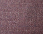 Plum Pudding Windowpane -  Felted Wool Fabric Yard in Wool Perfect for Rug Hooking, Applique and Crafts by Quilting Acres