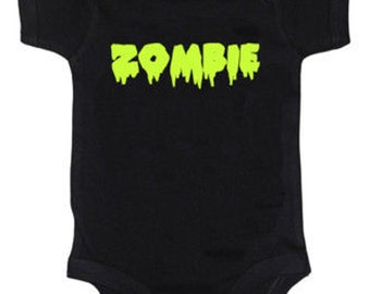 Green Zombie Baby Vest Onesie