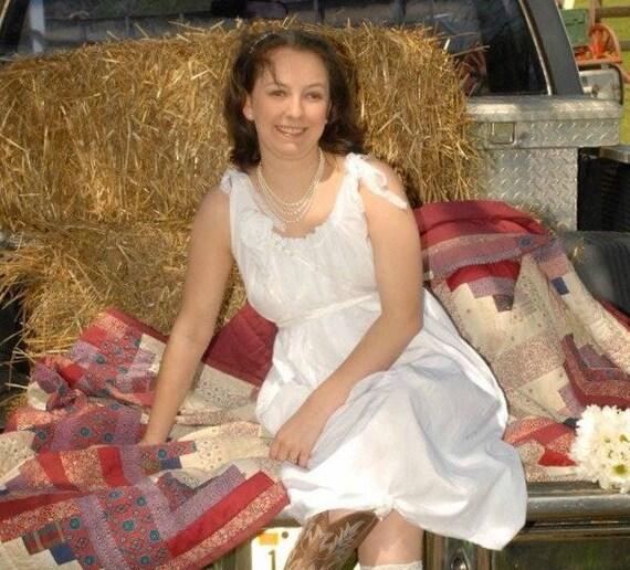 Short Wedding Dress Reception Western Cowgirl Unique Chic